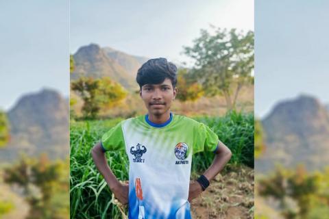 Madurai youth Ramesh deceased standing amidst fields