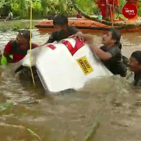 Kerala rains: Man drowns as his car washes away into flooded field