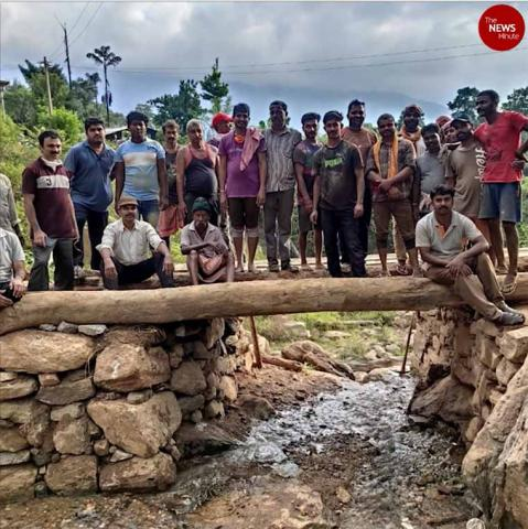People in Kodagu village build bridges, retaining walls ahead of monsoon
