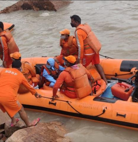 20-year-old Karnataka man and his dog stranded on island rescued by NDRF