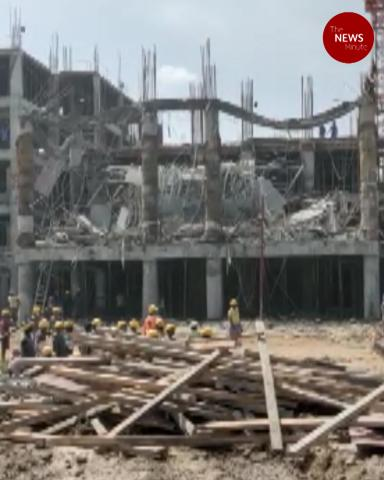 Portico of Namakkal under-construction government medical college building collapses