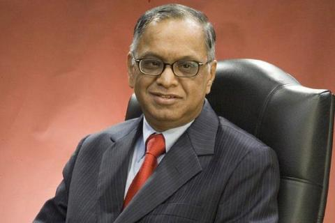 Narayana Murthy dressed in suit
