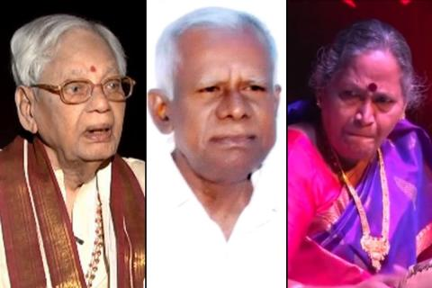 A collage of the Padma awardees