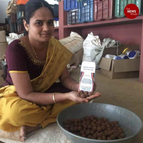 Meet the Tiruppur couple who sell seed balls for one rupee each