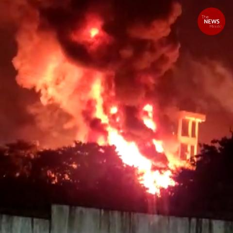 Massive fire and explosion at pharma unit in Andhra's Visakhapatnam