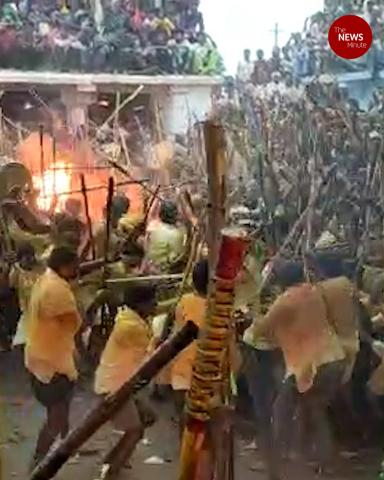 Thousands gather for annual Banni festival in Andhra despite COVID-19 restrictions