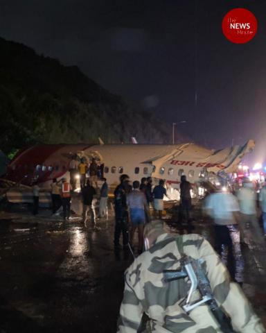 Dubai-Kozhikode Air India flight splits in two on Karipur runway, many injured