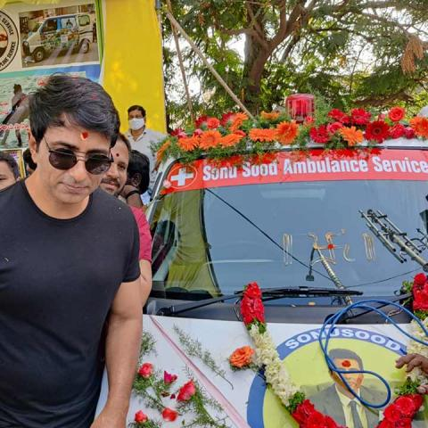 Hyderabad man launches free ambulance service in the name of actor Sonu Sood