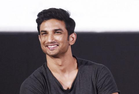 File photo Bollywood actor Sushant Singh Rajput wearing a black t-shirt