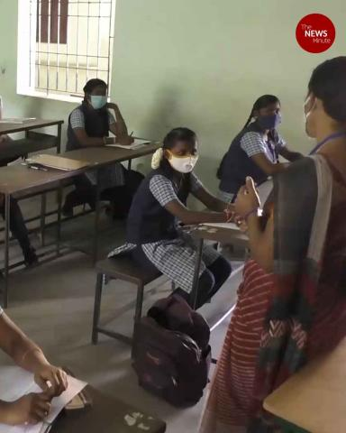 Students in Tamil Nadu return to campus as schools reopen after 10 months
