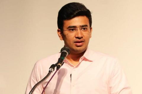 File image of Bengaluru South MP Tejasvi Surya