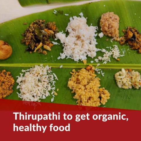 Devotees at Tirupati to get organic food, TTD begins trial