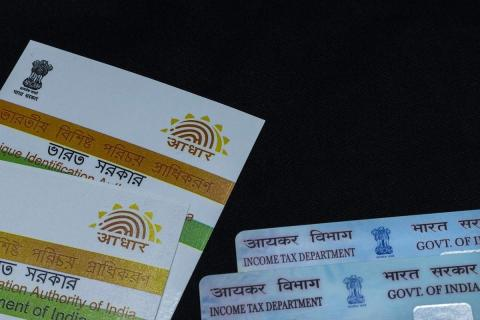 Two Aadhar cards.Representative image