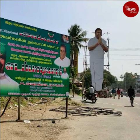 Political banners and hoardings erected in TN despite court orders against them.