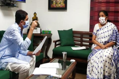 AP Finance Minister met with Union Fin Minister Nirmala Sitharaman on Friday in New Delhi