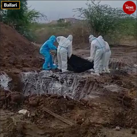 Videos of 'mass burial' of COVID-19 patients in Karnataka surface, officials issue apology