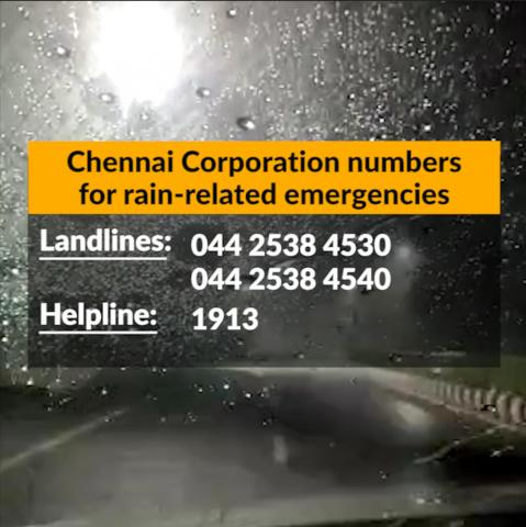 Heavy rains lash Chennai, several parts of city inundated