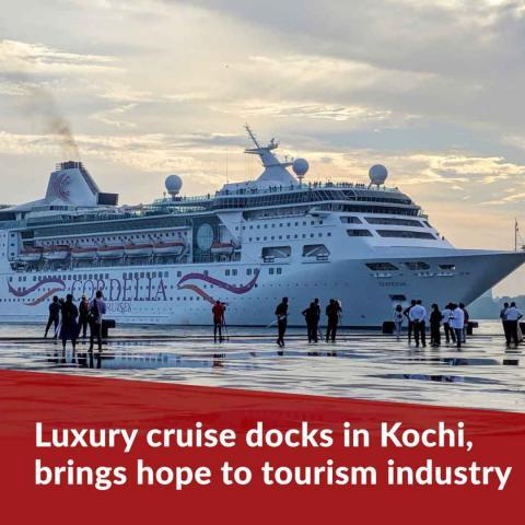 Luxury cruise docks in Kochi, brings hope of reviving Kerala's tourism