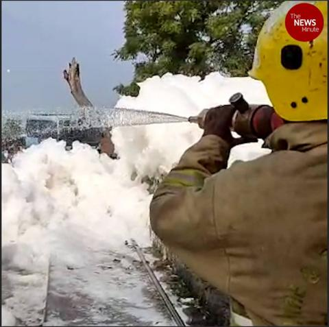 Froth in Madurai's Sellur tank: TNPCB officials say no trace of effluents