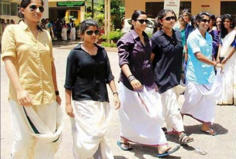 Onam 2015: Not cream and gold, campuses awash with celluloid hues ...