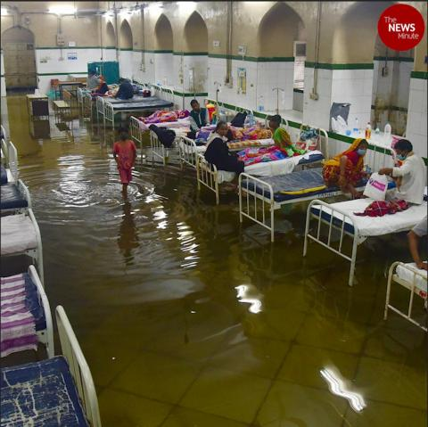 Hyderabad's Osmania General Hospital inundated after heavy rains