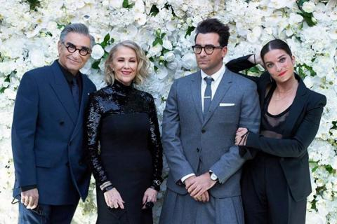 The four main cast members of the Canadian series Schitt's Creek