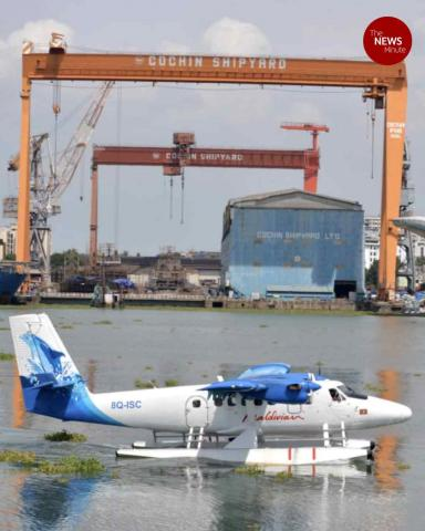 Twin Otter 300 seaplane makes transit halt in Kochi, to proceed to Gujarat