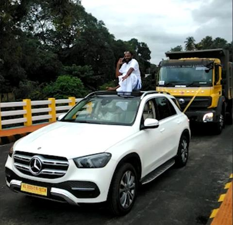 Kerala businessman's roadshow with new Mercedes lands him in trouble