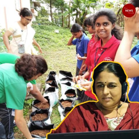 This Kerala teacher conducts free farming lessons through WhatsApp