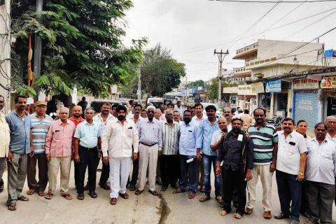 Residents gathered together in protest against the toddy shop