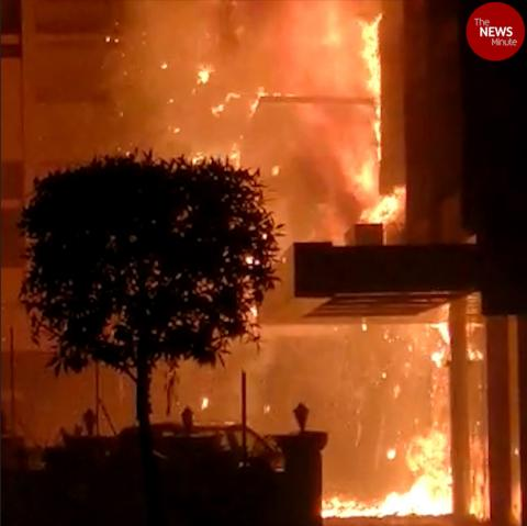 Fire breaks out at COVID care centre in Vijayawada, 10 dead