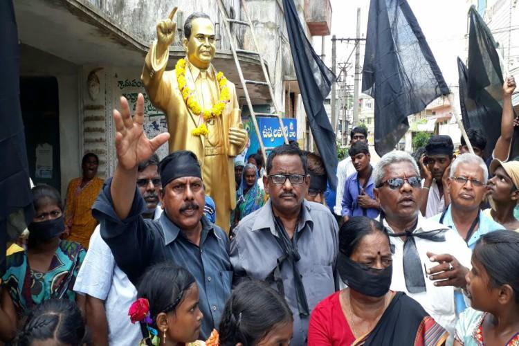 No freedom from social boycott in this AP village Dalits hold black flag rally on I-Day eve