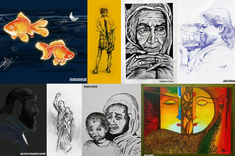 Kerala artist begins 100-day sketching challenge inspires more to join