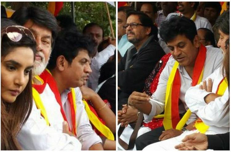 Kannada film stars boycott Goa film festival protest in Bengaluru over Kalasa-Banduri project