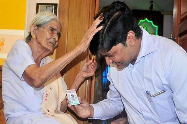 Her 100th birthday and first vote in May 2016 Thressiamma is Keralas oldest maiden voter