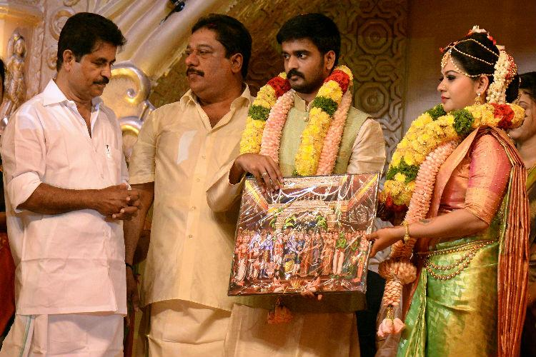 Whistleblower Biju Rameshs daughter weds Cong MLAs son at massive event top leaders stay away