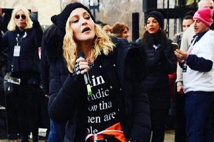 Madonnas music banned on Texas radio station for her speech at the Womens March