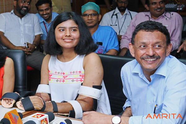 Asias first ever upper-arm transplant in Kochi Pune teen gets new hand from Kerala man