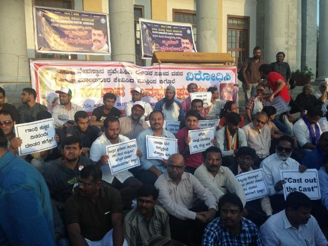 Protests calling for right to eat beef in Bengaluru