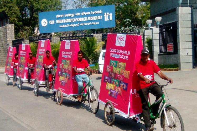 They quit their jobs in UK to start a Hyderabad company that sells ads on cycles