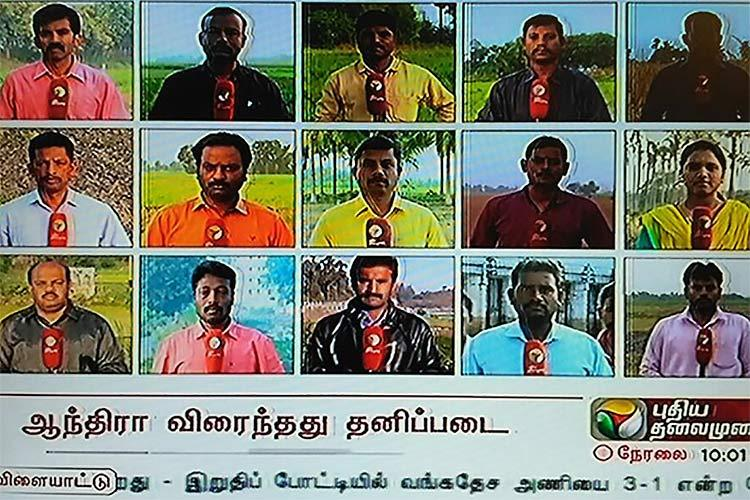 StandWithFarmers Tamil news channel dedicates day-long coverage to drought farmer crisis