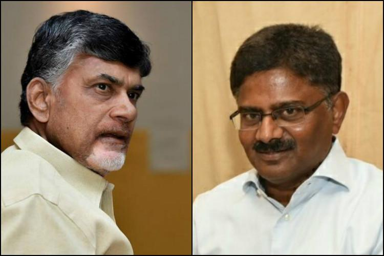 Days after meeting Jagan ex-Andhra DGP visits CM Naidu rules out political entry