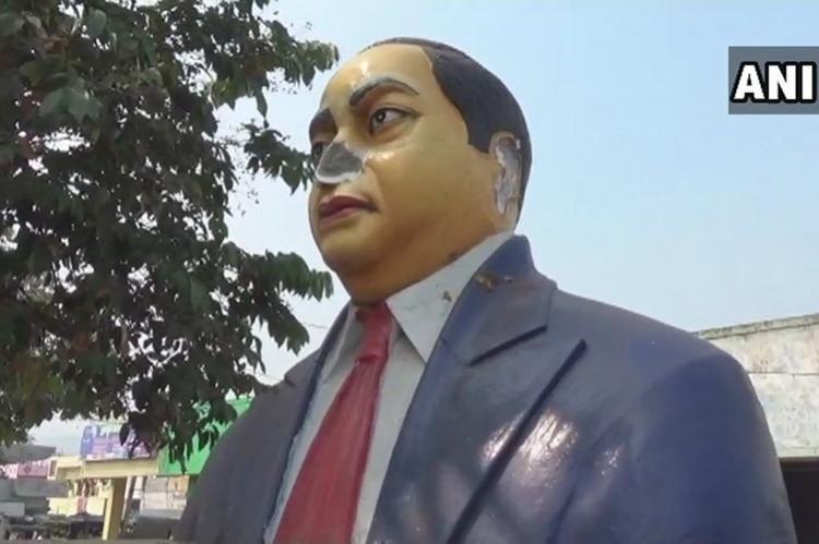 Ambedkar statue in Vizag vandalised by miscreants Andhra police book case