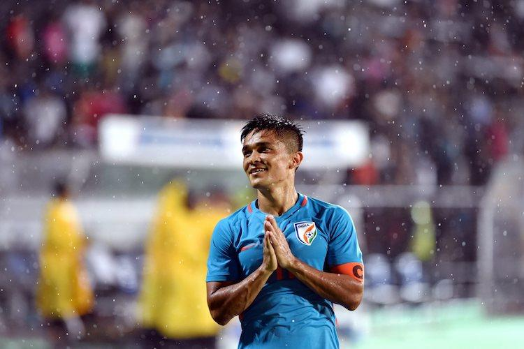 Intercontinental Cup Chhetri double in his 100th game helps India beat Kenya