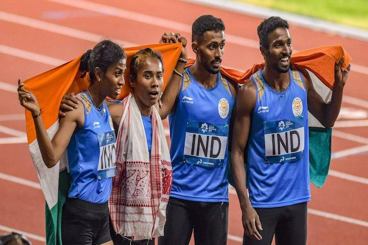 Asiad 2018 Three medals in athletics one in TT add to Indias medal kitty
