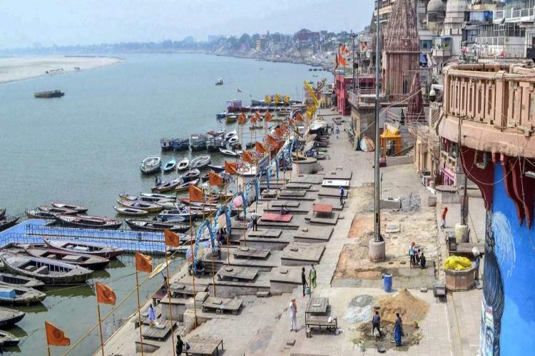 Ganga ghats in Varanasi of UP