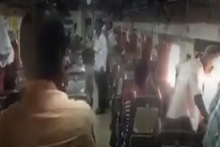 Watch video shot by a passenger inside train that was set on fire by Kapu agitators