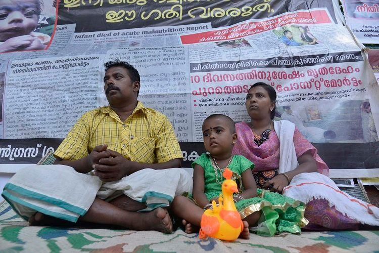 In Kerala a 3-year-old fights for justice for her dead baby sister with her parents