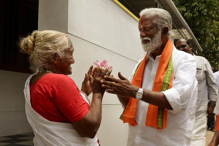 On the campaign trail Kummanams burden of getting the lotus to bloom in Kerala