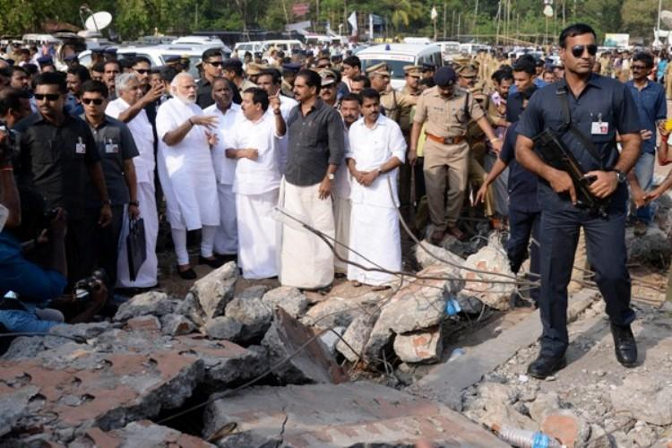 CM Chandy terms PMs visit in the wake of the Kollam tragedy a big relief waving aside DGPs objection